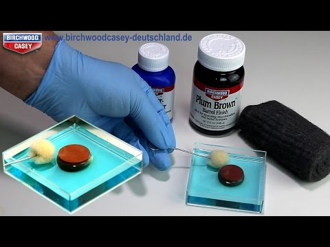 Metall Antik färben - Rot-Braune Brünierung - Plum Brown