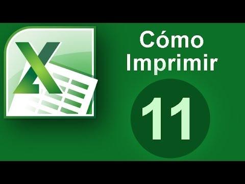 Tutorial Excel (Cap. 11) Cómo Imprimir en Excel