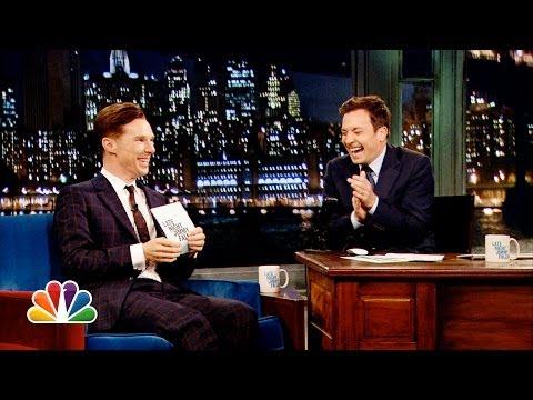 Alan Rickman-off with Benedict Cumberbatch and Jimmy Fallon (Late Night with Jimmy Fallon)