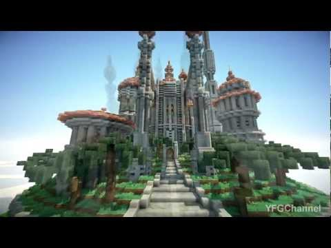 ▶ Minecraft Floating Castle