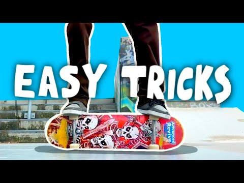 The 10 Easiest Skateboard Tricks Ever   For Beginners