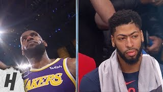 LeBron James Hits Dagger 3, Anthony Davis in Shock - Pelicans vs Lakers | Feb 24, 2019