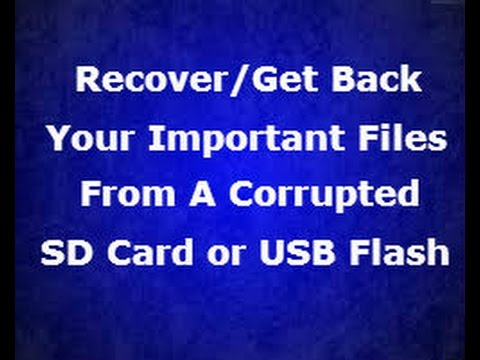 How To Get Back Your Files From A Corrupted or Damaged SD Card thumbnail