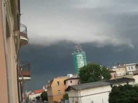 Burza 22.08.2012 Kąty Wrocławskie Shelf Cloud
