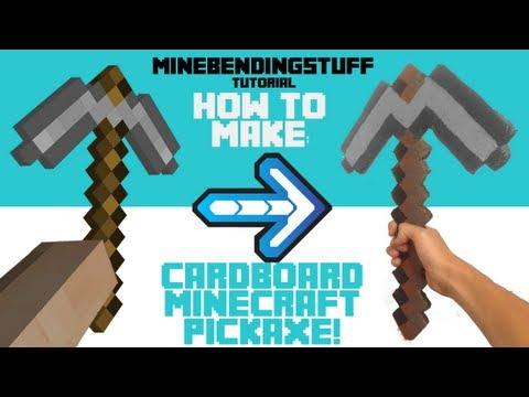 How To Make A Cardboard Minecraft Pickaxe