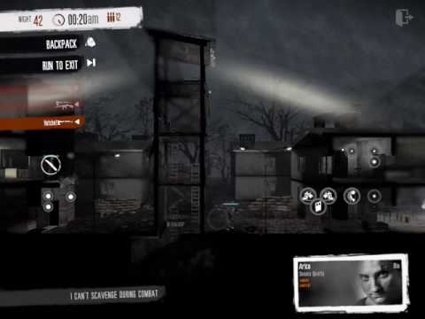 This War of Mine (iOS) - Clear Military Outpost with hatchet in one night