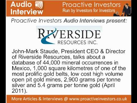 John-Mark Staude, President CEO & Director of Riverside Resources, talks to Proactive Investors
