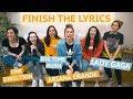 FINISH THE LYRICS CHALLENGE #2