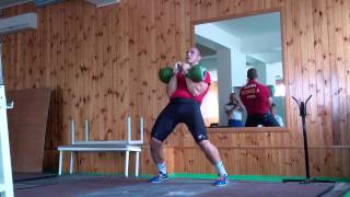 Long cycle Ivan Denisov 2x24kg kettlebells 150 reps.