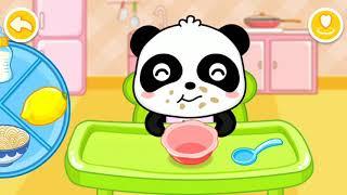 Panda family Games Ep1-Baby Panda care