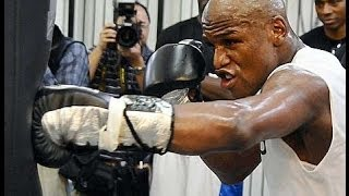 FLOYD MAYWEATHER; COMPLETE HEAVY BAG WORKOUT vs Marcos Maidana