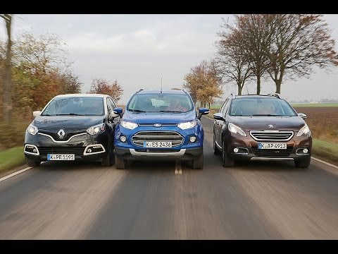 Renault Captur vs. Peugeot 2008 vs. Ford EcoSport