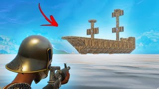 BUILDING THE WORLD'S BIGGEST PIRATE SHIP   Fortnite Battle Royale