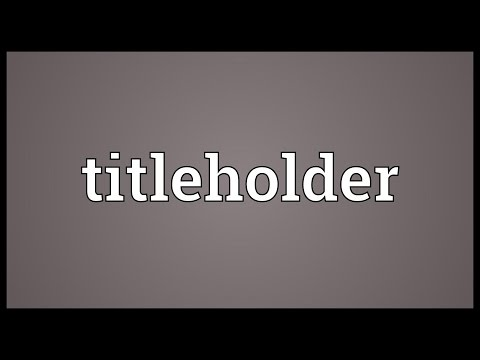 Header of titleholder
