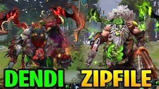 DENDI & ZIPFILE PUDGE OFFLANE: RED & GREEN ARCANA Dota 2