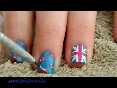 Girly Olympic Team GB Nails