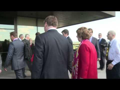 Catherine Ashton meets Canadian Foreign Minister John Baird