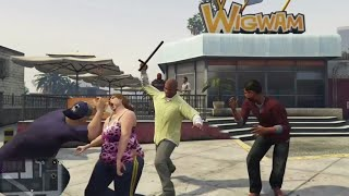 GTA 5 Kills FPS, Beach, Knife, Fun/Brutal Kill
