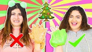 CHRISTMAS SLIME SMOOTHIE CHALLENGE | MAKING THE BEST CHRISTMAS SLIMES | Slimeatory #235