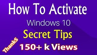 How to activate windows 10 for free permanently 2017