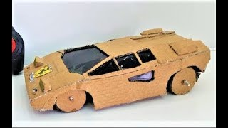 WOw! RC Ferrari Car DIY - Amazing RC Car of Cardboard