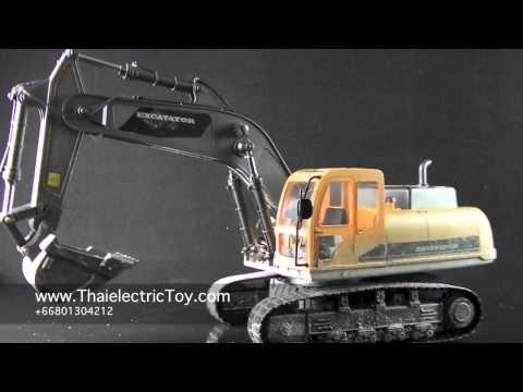 ของเล่นรถแบคโฮ หรือ แม็คโครบังคับ ขนาดใหญ่ สเกล 1:12 Hobby Engine Premium Label Excavator