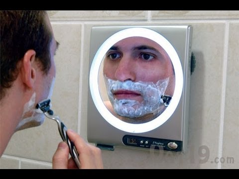 fogless shower mirror with led light and 5x magnification youtube