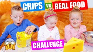 CHIPS vs REAL FOOD CHALLENGE!! ♥DeZoeteZusjes♥