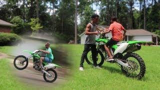 11 Year Old Rides KX250f + Wheelies!!