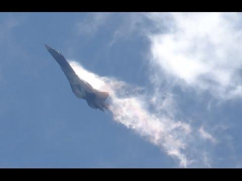 ПАК-ФА (Т-50) Эффект Прандтля-Глоерта. Срыв потока. Демонстрационный полёт на авиасалоне МАКС 2015