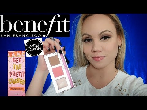 New Benefit Cosmetics GET THE PRETTY STARTED BRONZE .BLUSH. & HIGHLIGHT PALETTE{LIMITED EDITION}2017