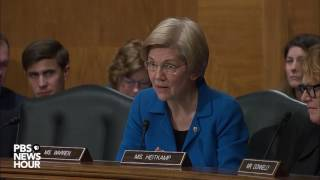Sen. Elizabeth Warren presses Ben Carson on HUD benefits and the Trump Family