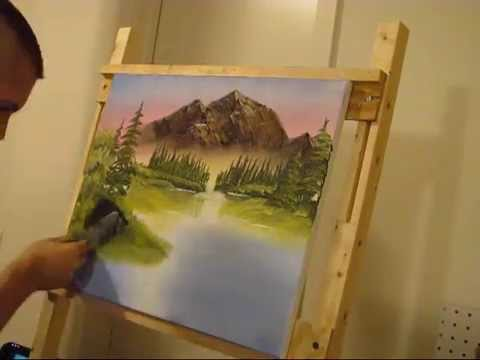 Attempting Bob Ross - Part 3 -  Mountain Retreat (time-lapse)