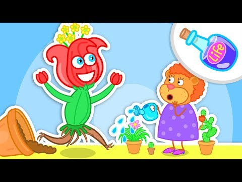 Lion Family Cactus scatters Toys Cartoon for Kids