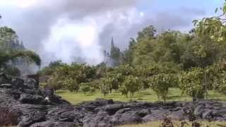 Lava creeps further toward Haiwaii village