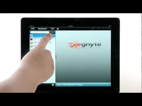 Using Egnyte with Quickoffice® Pro HD for iPad