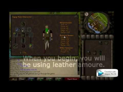 Runescape 2007 1-99 Ranged guide! Part 1