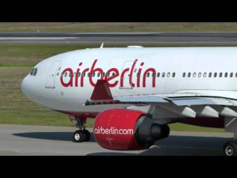 Air Berlin A330-200 take-off @ Berlin TXL - 16/8/2012