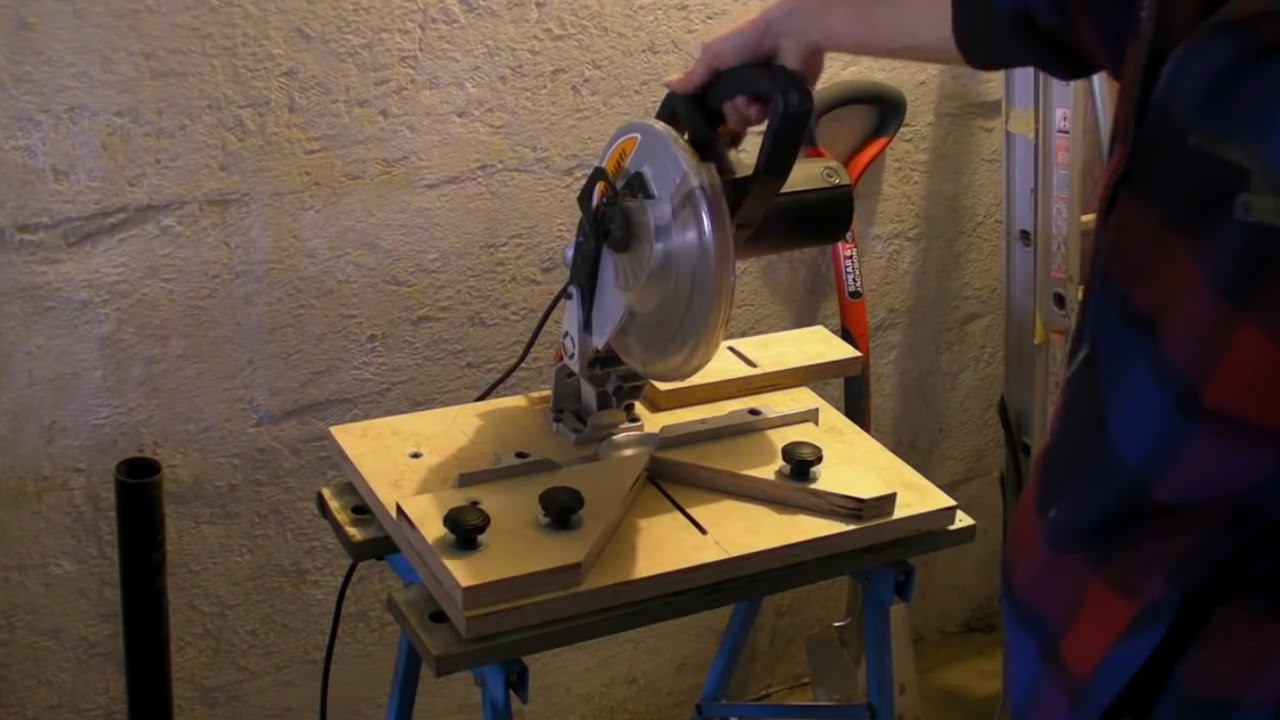 Fixing Mitre Saw 90 176 Chop Saw Mitre Cutting Jig Youtube