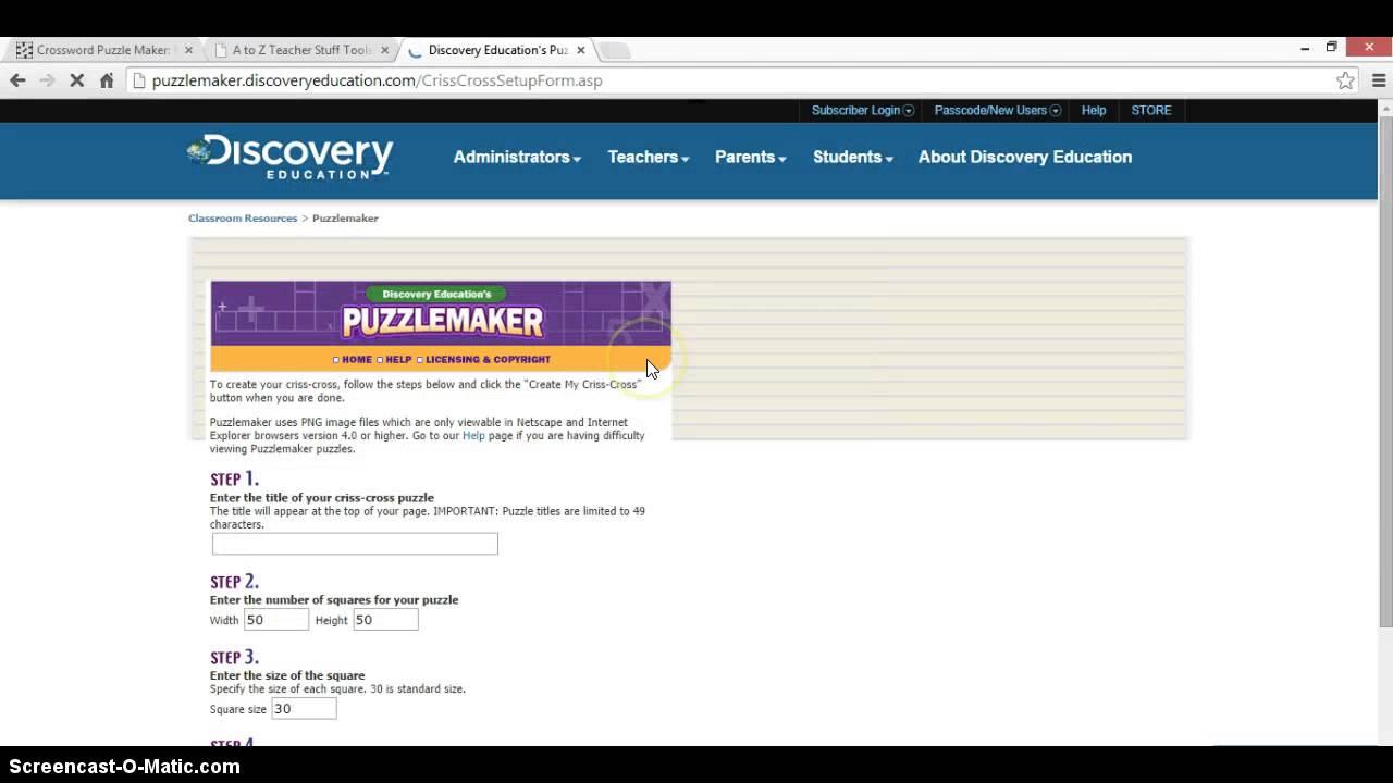 Worksheetseteacherscorner make your own crossword crossword 2 robcynllc Choice Image