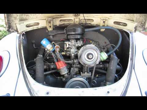 1963 vw bug engine start and run
