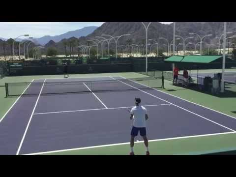 David Ferrer Fernando Verdasco Indian Wells 2015 BNP Paribas Open 3/15/15 Practice