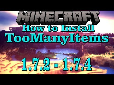 Minecraft 1.7.4 - Too Many Items Mod (Tutorial + Download)