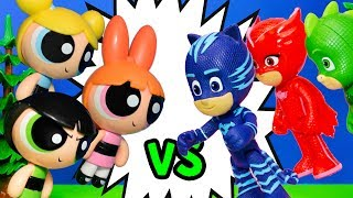 PJ Masks have a Contest with Powerpuff Girls to Save Rapunzel
