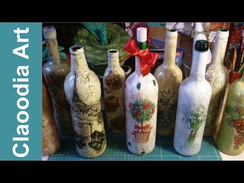 Jak zrobić krok po kroku decoupage na butelce? [ decoupage on the bottle] (Claoodia Art)