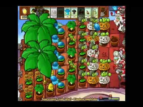 Plantas vs Zombies Supervivencia Tejado [dificil]