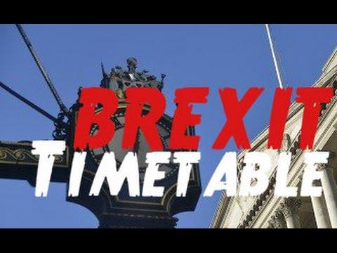 British EU Referendum - Results timetable
