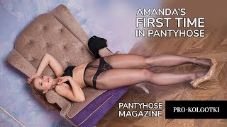 AMANDA posing in Pantyhose: Backstage Outtake - Making of Pantyhose Magazine PRO KOLGOTKI 2017-10(2)