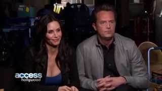 Courteney and Matthew kissing on Go On!