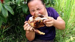 Primitive Technology - cooking big DucK Eating delicious 017